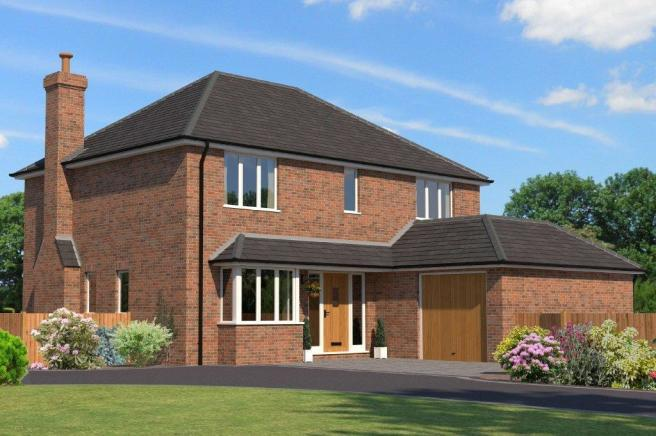 4 bedroom detached house for sale in locks heath new for New build 4 bed house