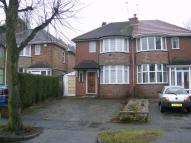 Knightwick Crescent semi detached house to rent