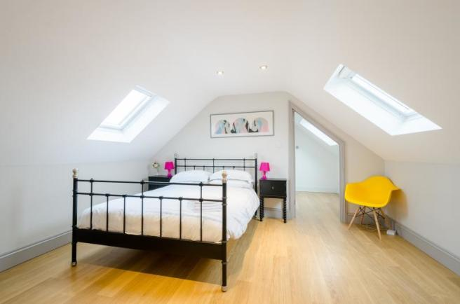 The Stables, Chelsey Hill, Wick, Attic Bedroom
