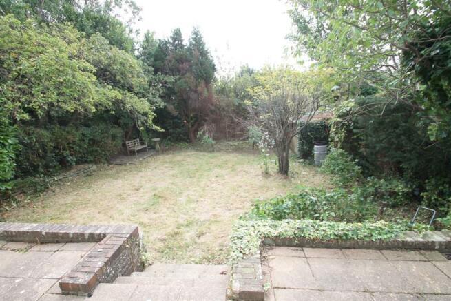 Rear garden showing