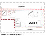 Studio apartment to rent in NORTH STUDIOS (OPPOSITE...
