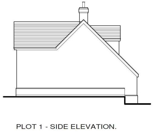 Plot 1 Side Elevatio