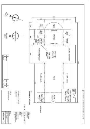 Floor plan of church