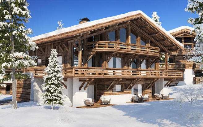 The chalet to be bui