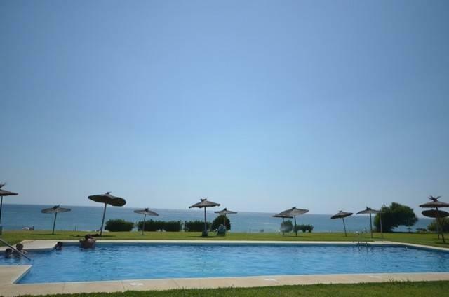 Pool on beach