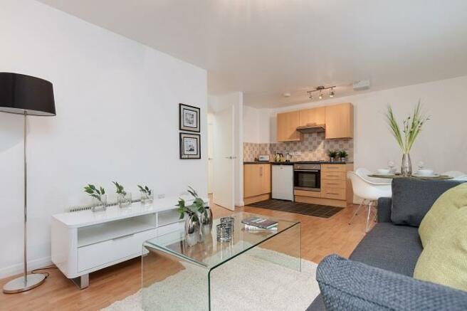 living area w kitche