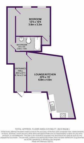 1, 26 Bridgewater Street, M3 4NH - floor plan.JPG