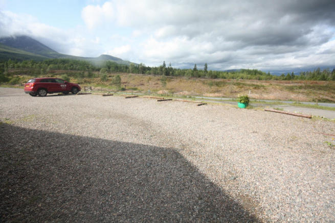 Car park and views