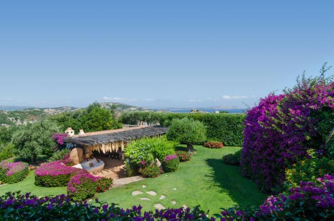 Garden view Villa Cassedda Porto Cervo Sardinia