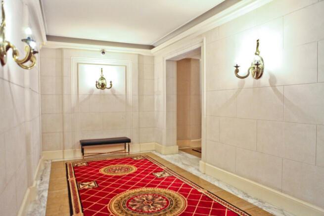 Hallway marble Eiffel Montaigne Paris