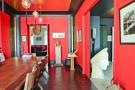 Dining room large red parquet flooring Etoile Avenue President Wilson Paris