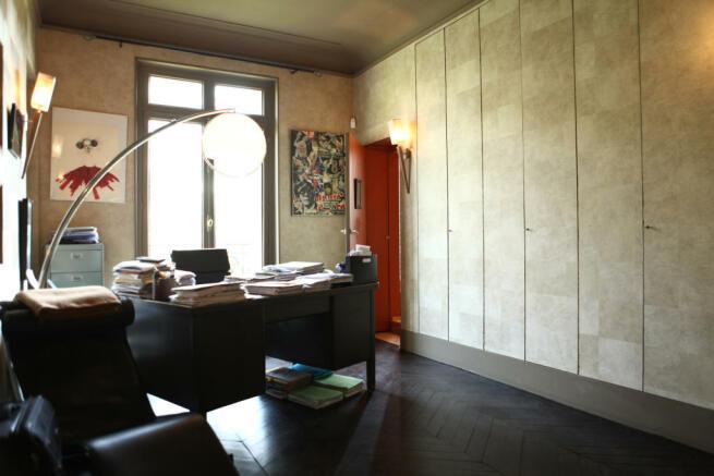 Office study wood floor Etoile Avenue President Wilson Paris