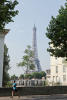 View of the Eiffel Tower Etoile Avenue President Wilson Paris