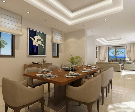 Dining room marble Venus Rock Golf Resort Imperial Residences Cyprus