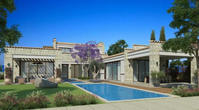 Swimming pool outdoor view garden Venus Rock Golf Resort Imperial Residences Cyprus