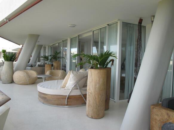 Outdoor area patio Billionaire Resort Kenya