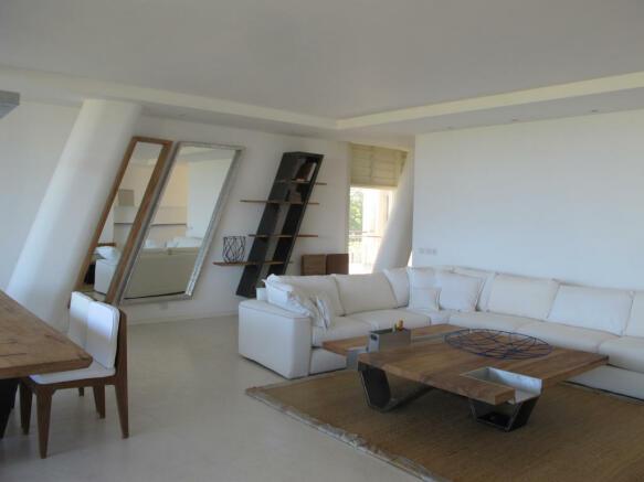 Living room column marble floor Billionaire Resort Kenya