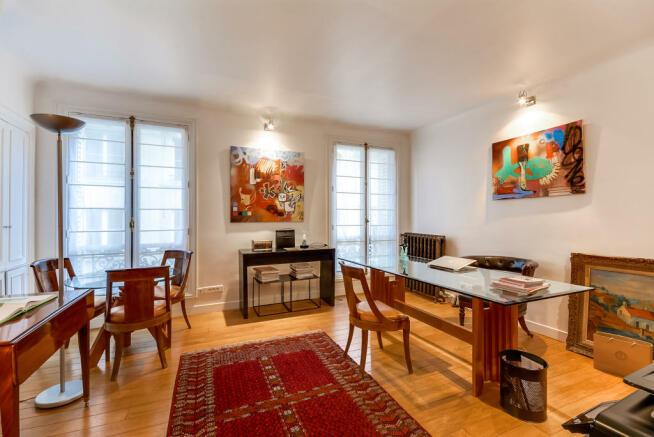 Dining room office wood floor Rue Jean Mermoz Paris