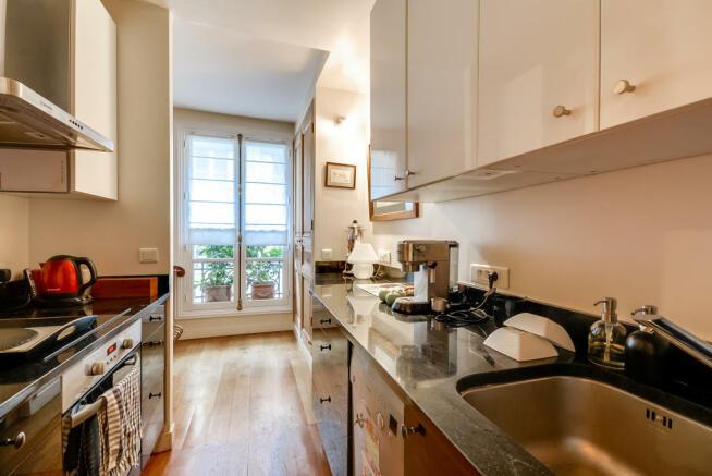 Kitchen wood floor Rue Jean Mermoz Paris