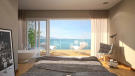 Phase C bedroom with bath and terrace overlooking Lac Lemán