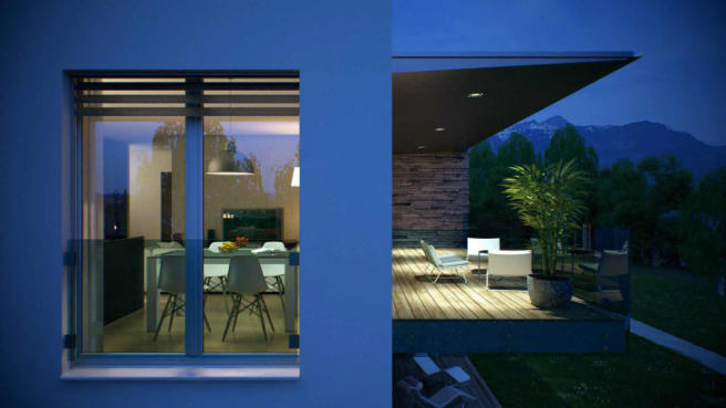 Phase C ground floor apartment CGI at Les Terrasses by Lac Lemán