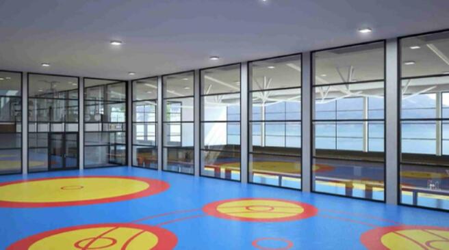 CGI of Les Terrasses du Lac sports complex