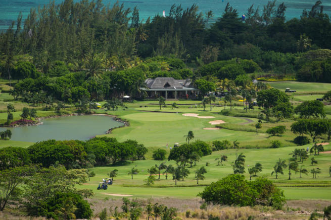 Aerial view Villas Valriche Mauritius