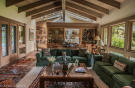Living room exposed beams wood high ceiling EE-DA-HO Ranch Arizona