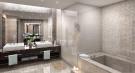 Bathroom twin sink shower bath stone marble Echo Aventura Miami Florida