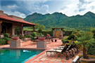 Swimming pool sun terrace view South Mill Ranch Arizona