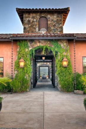 Entrance front facade South Mill Ranch Arizona