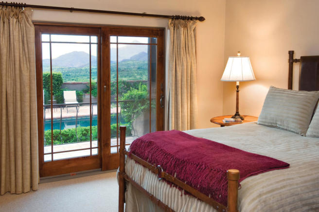 Bedroom french doors South Mill Ranch Arizona