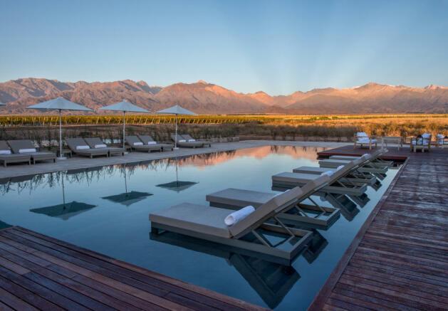 Sun terrace swimming pool Vines of Mendoza Resort Villas Argentina