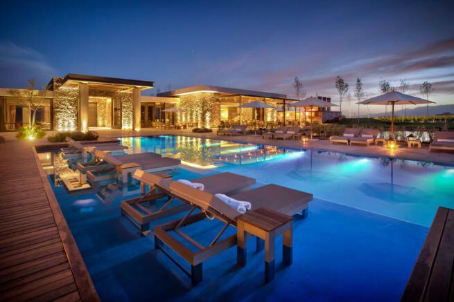 Swimming pool night area Vines of Mendoza Resort Villas Argentina