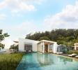 Infinity edge swimming pool rear facade Alila Villas Koh Russey Cambodia