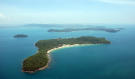 Aerial view Koh Russey Cambodia
