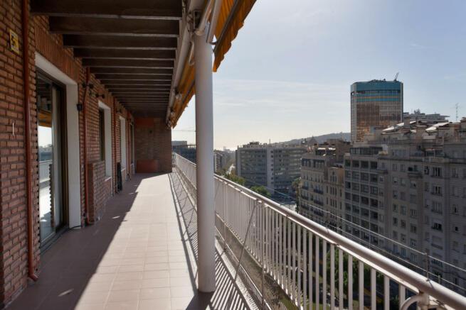 Balcony view The Penthouse Av de Pau Casals Barcelona