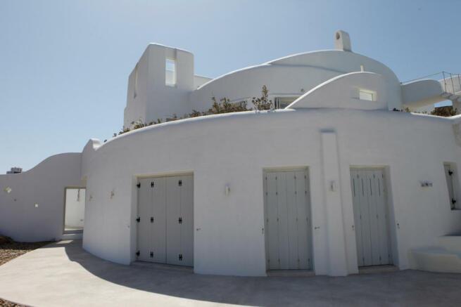 Rear facade Fanari Mykonos