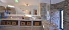 Bathroom stone shower sink Lia Mykonos