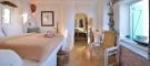 Bedroom ensuite bathroom marble floor Lia Mykonos