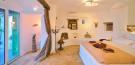 Bedroom marble floor french doors Lia Mykonos
