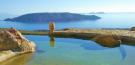 Swimming pool view ocean sea Lia Mykonos