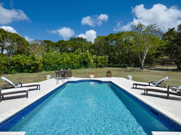 Swimming pool sun terrace Sand Box at Sandy Lane Barbados