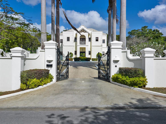 Entrance driveway Sand Box at Sandy Lane Barbados