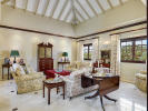 Living room full height ceiling marble floor Sand Box at Sandy Lane Barbados
