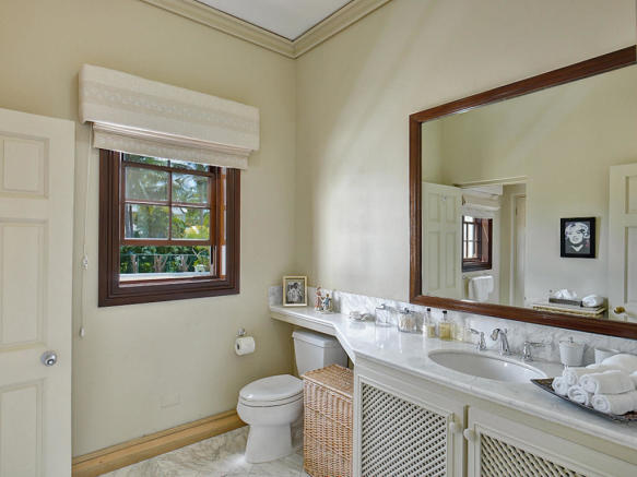 Bathroom marble floor sink Sand Box at Sandy Lane Barbados