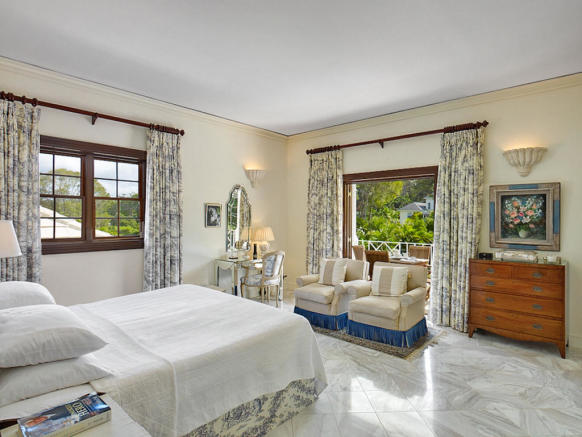 Bedroom master marble floor balcony doors Sand Box at Sandy Lane Barbados