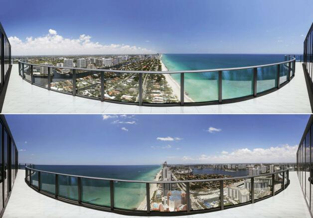 Panoramic coast beach view Regalia Miami Florida