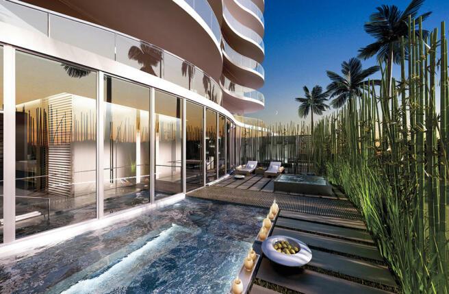Swimming pool hot tub sun terrace Regalia Miami Florida
