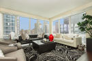 Living room city view large window Riverside Boulevard New York